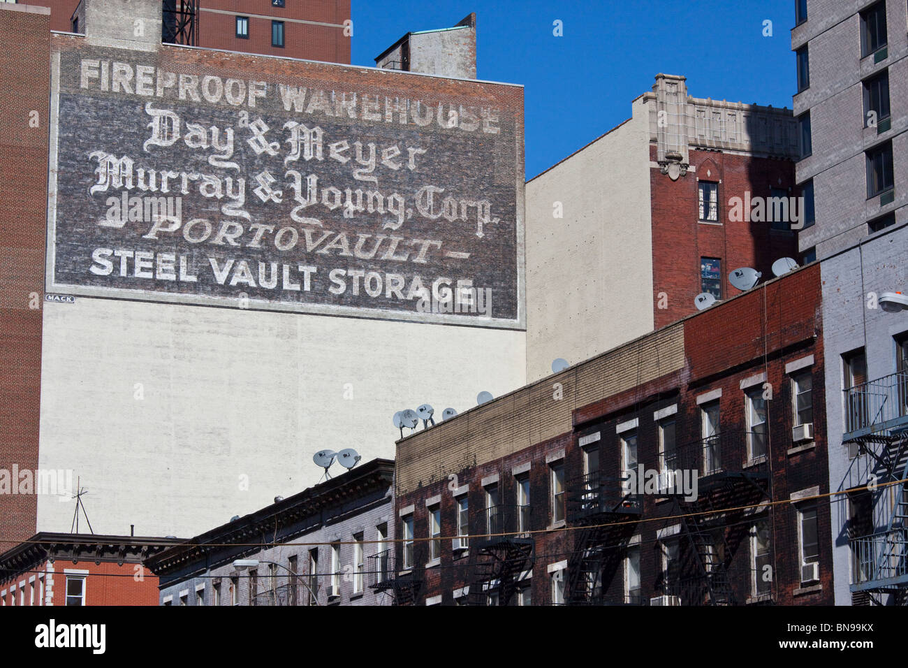 Faded billboard in the Upper East Side of Manhattan, New York - Stock Image