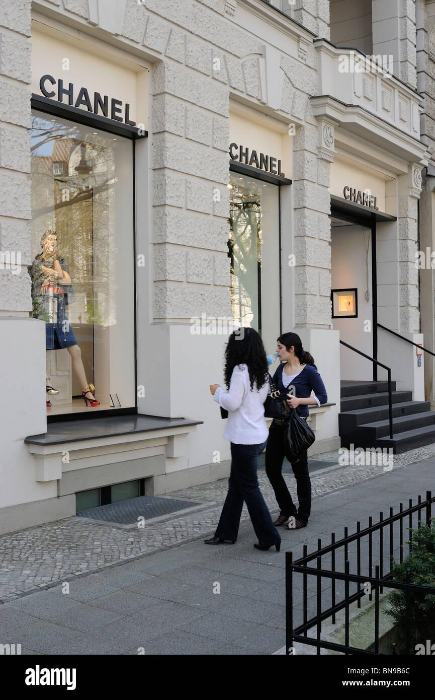 Chanel Berlin chanel exclusive designer boutique showroom kurfuerstendamm stock