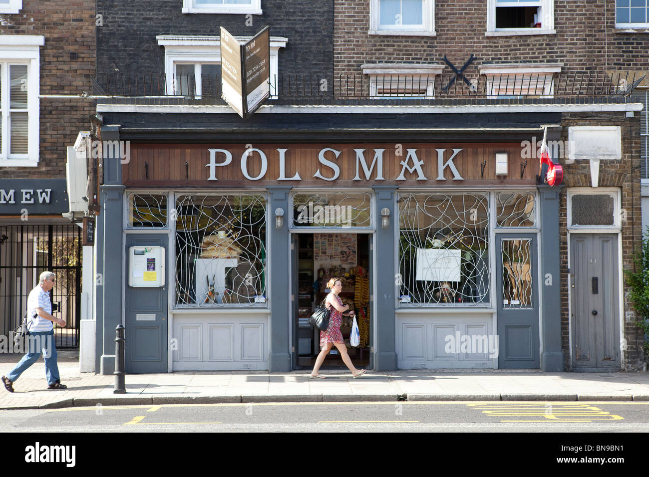 Polsmak, Polish shop, Balls Pond Road, Hackney London - Stock Image