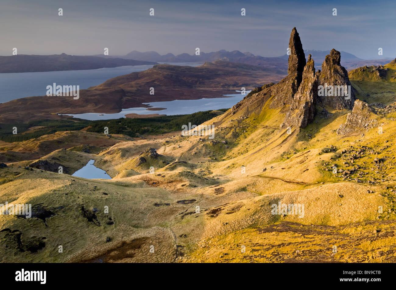 The Old Man of Storr, Trotternish Peninsula, Isle of Skye, Inner Hebrides, Scotland, UK - Stock Image