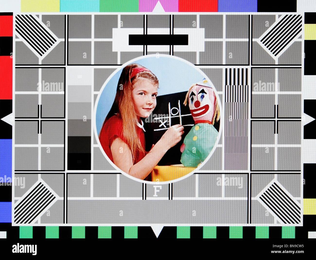 BBC Test Card F - Stock Image
