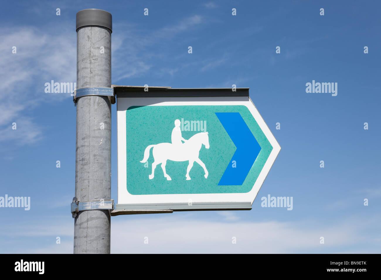 UK, Britain. Bridleway sign - Stock Image