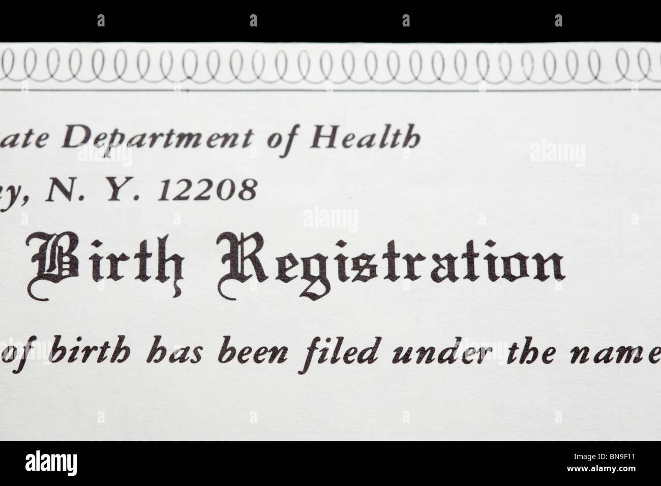 Birth Registration Form Stock Photos & Birth Registration Form Stock