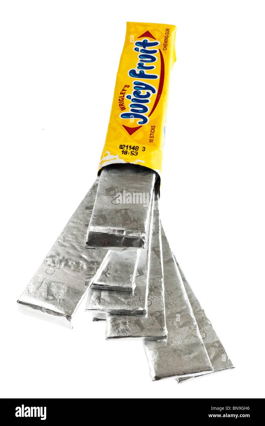 Packet of Wrigleys juicy fruit chewing gum - Stock Image