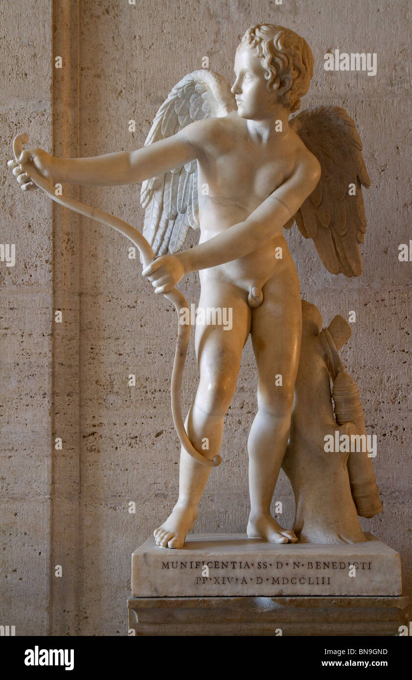 The Eros of Lysippos in the Palazzo dei Conservatori of the Capitoline Museums. See description for more information. - Stock Image