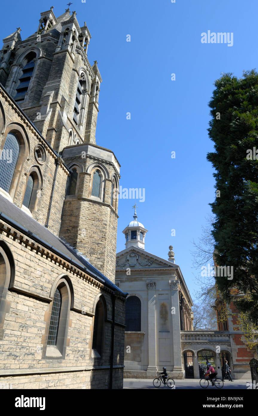 The Emmanuel United Reformed Church on Trumpington Street, Cambridge, England Stock Photo