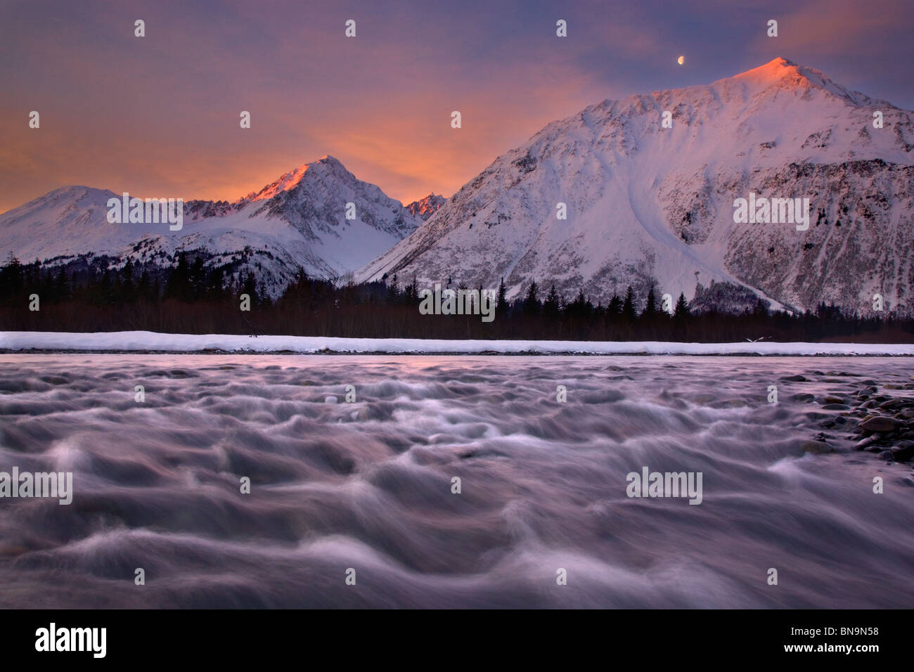 Resurrection River, Seward, Alaska. - Stock Image