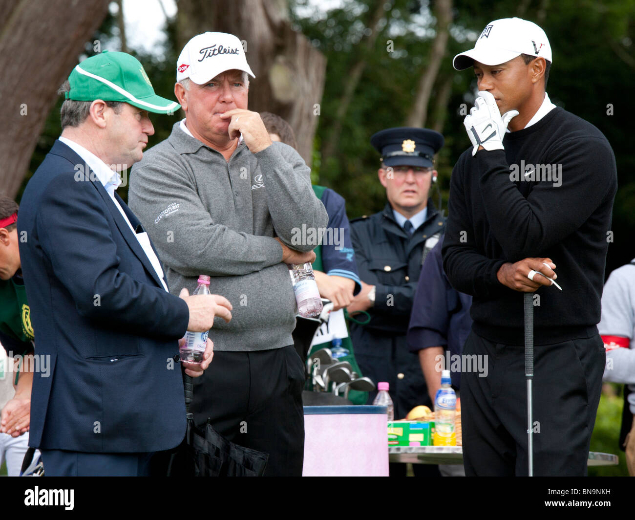 c5f11bd090710 JP McManus Mark O Meara Tiger Woods at Pro-Am Golf Tournament