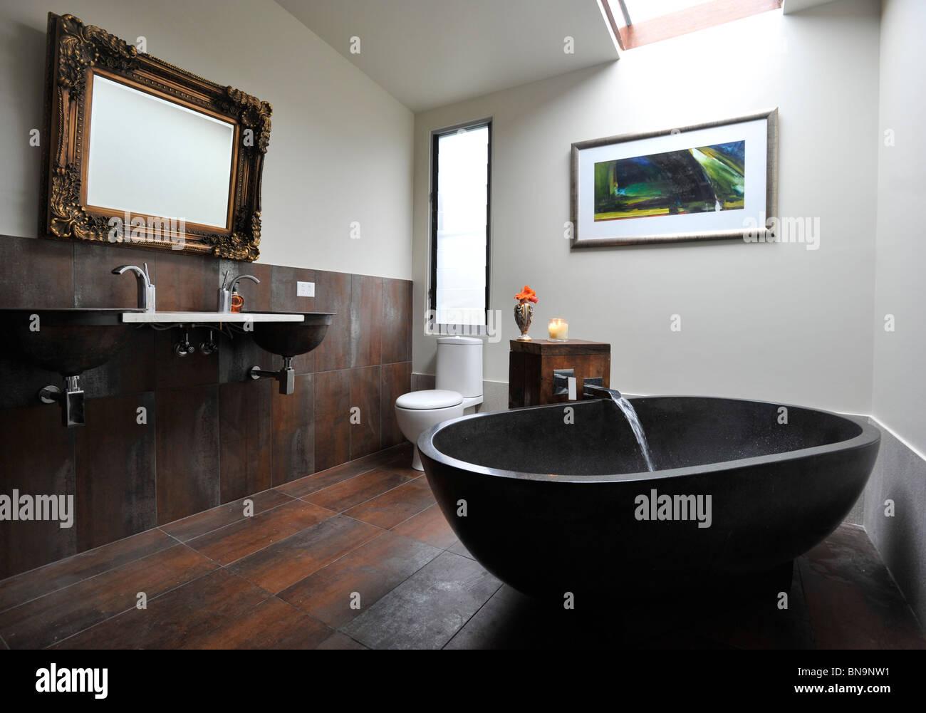 Bathroom in Contemporary home - Stock Image