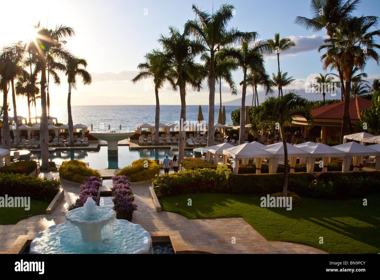 Four Seaons Resort and Hotel on Wailea Beach in Wailea, Maui, Hawaii Stock Photo