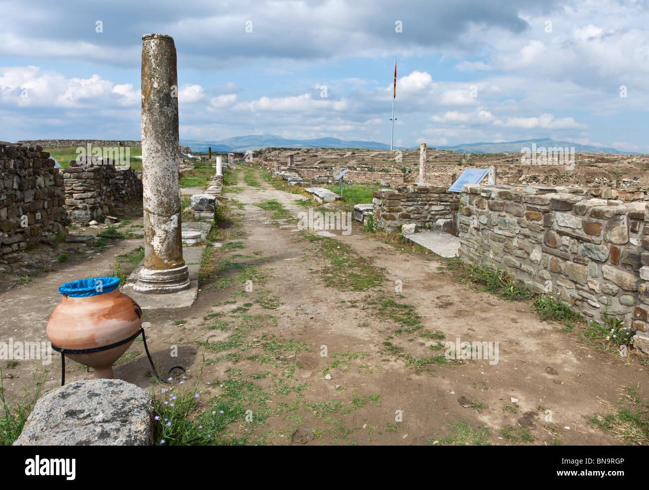 The Via Sacra of Stobi, Republic of Macedonia. - Stock Image