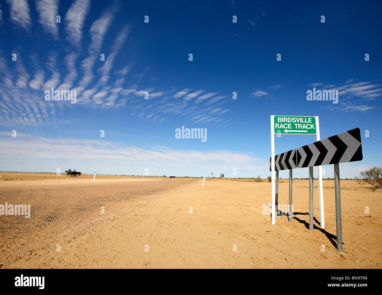 Birdsville race track sign - Stock Image