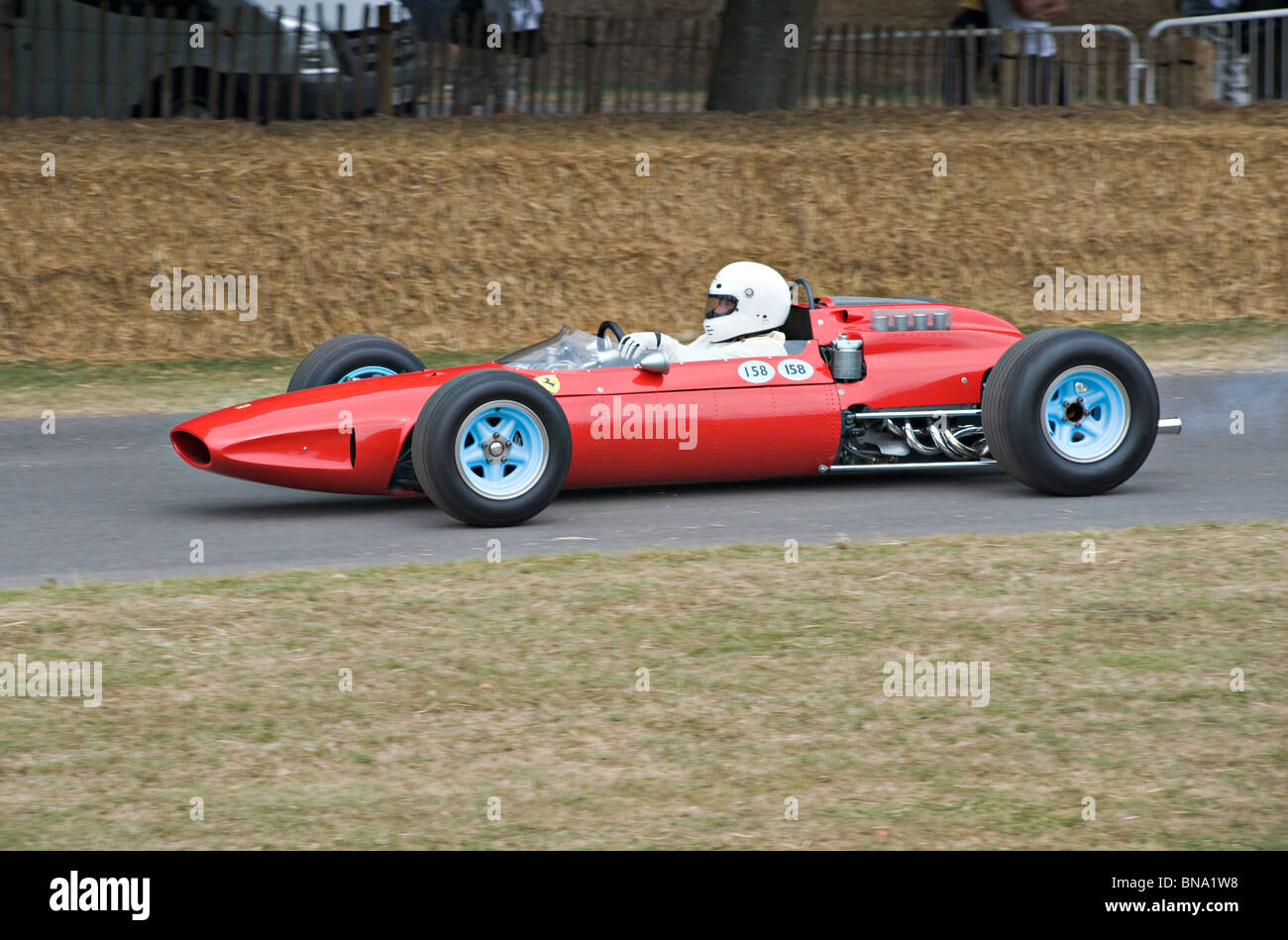 Ferrari 158 Historic Formula One Racing Car at Goodwood Festival of Speed West Sussex England United Kingdom UK - Stock Image