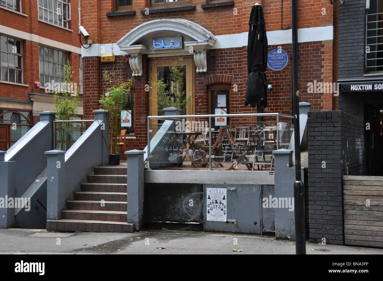 BLUU A Club in Hoxton Square Hackney London England UK - Stock Image