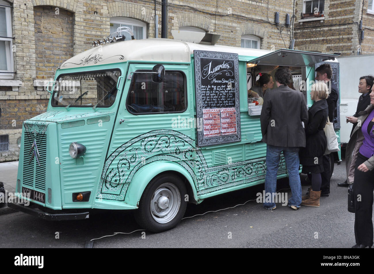 Mexican Street Food Catering Van London England UK - Stock Image