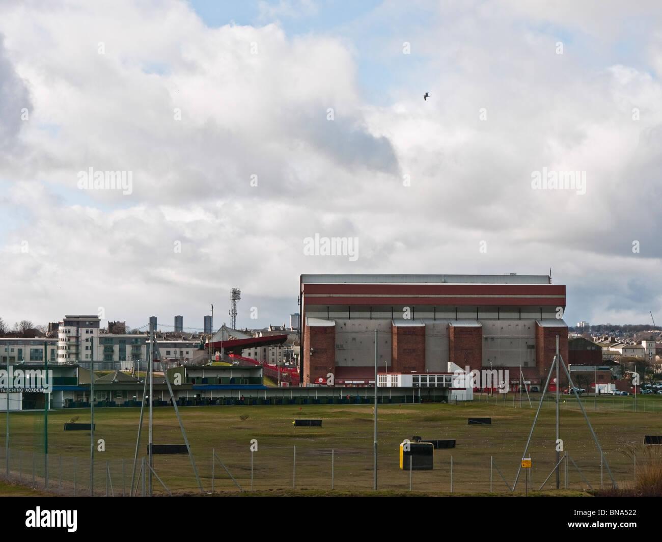 Pittodrie Stadium, home of Aberdeen Football Club, Aberdeen, Scotland, UK - Stock Image