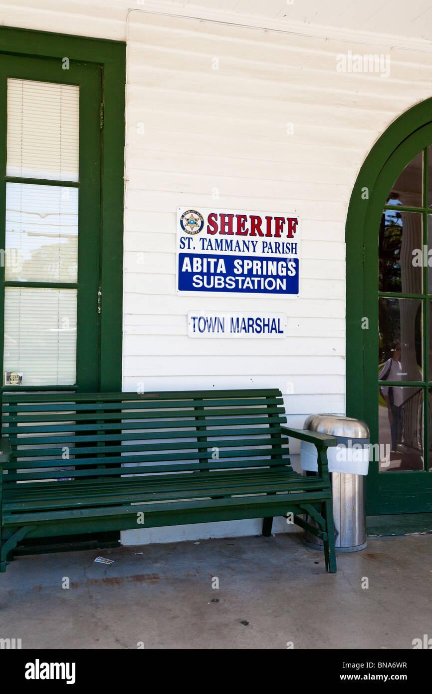 Abita Springs, LA - Mar 2009 - St. Tammany Parish Sheriff's office in Abita Springs, Louisiana Stock Photo