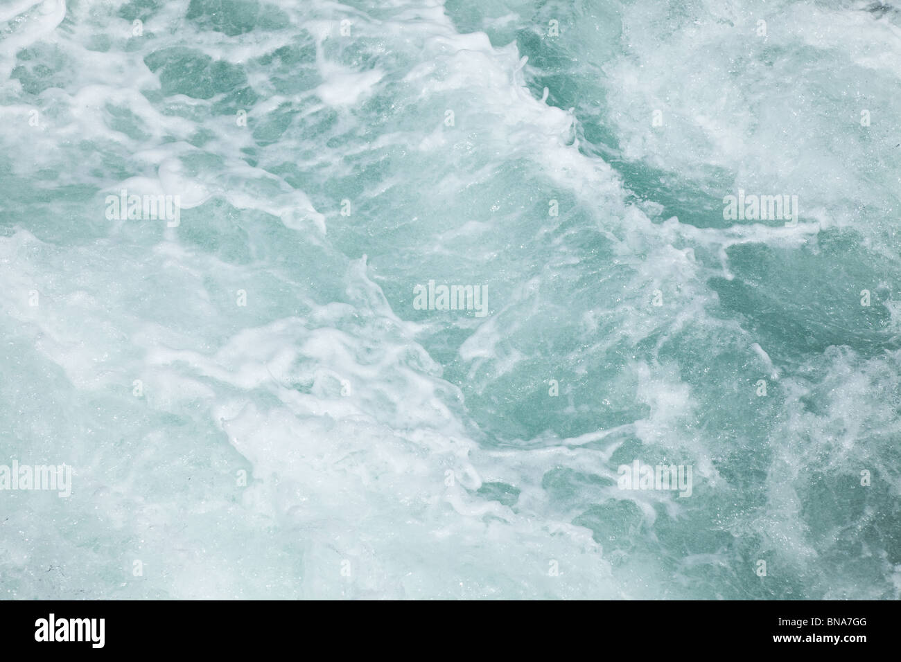 wave,white water texture for background - Stock Image