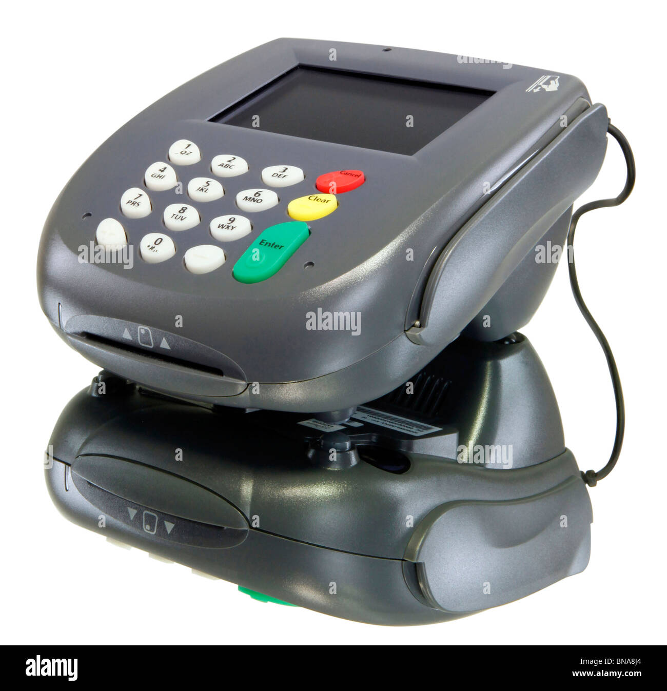 Card reader, color screen with youe message here! - Stock Image