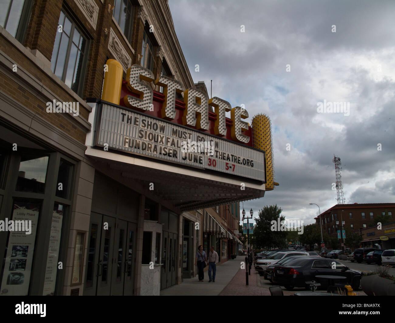 State Theater. Sioux Falls, South Dakota - Stock Image