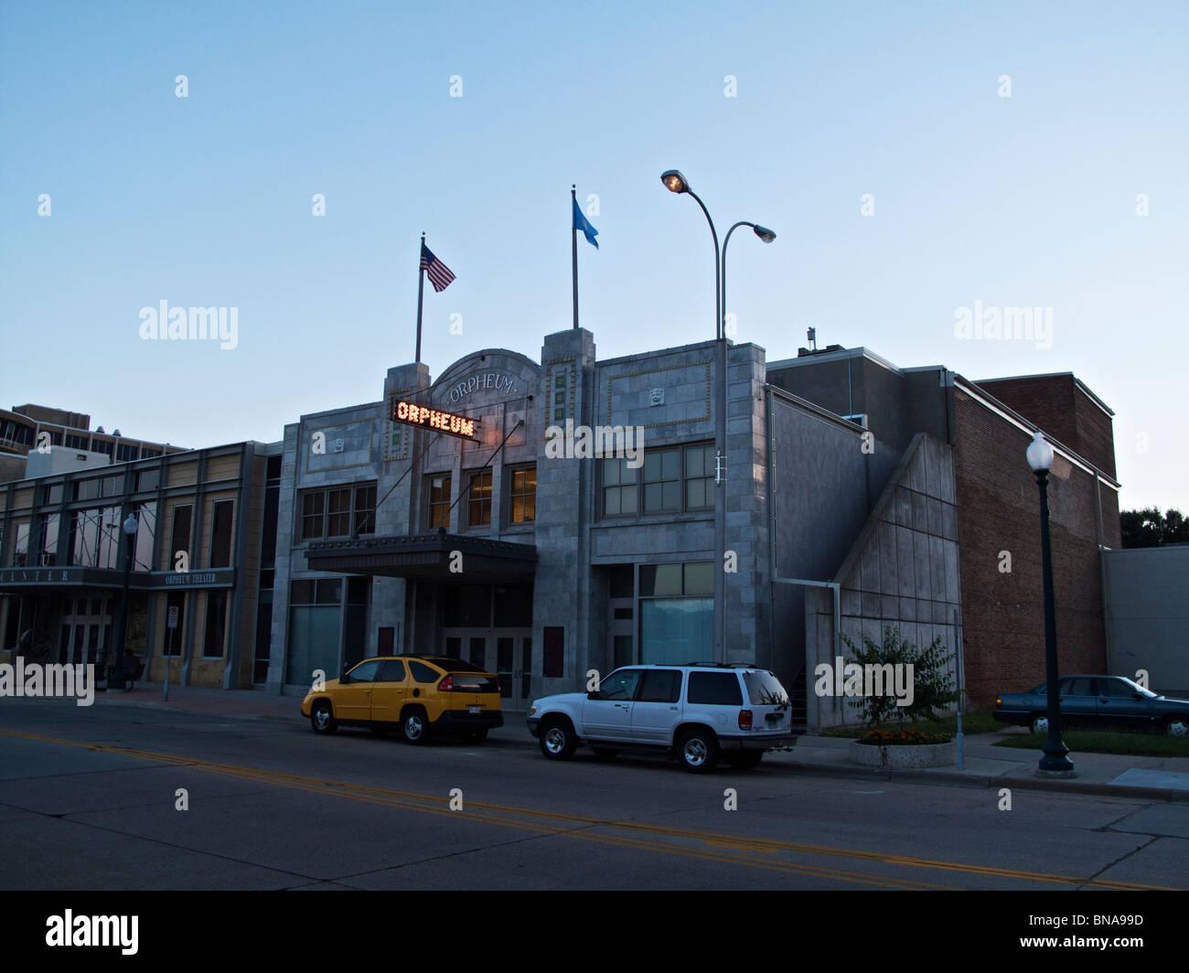 The Orpheum Theater. Sioux Falls, South Dakota - Stock Image