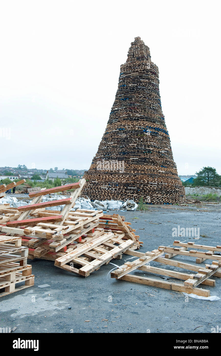Eleventh Night Bonfire, Newtownards 2010 - Stock Image