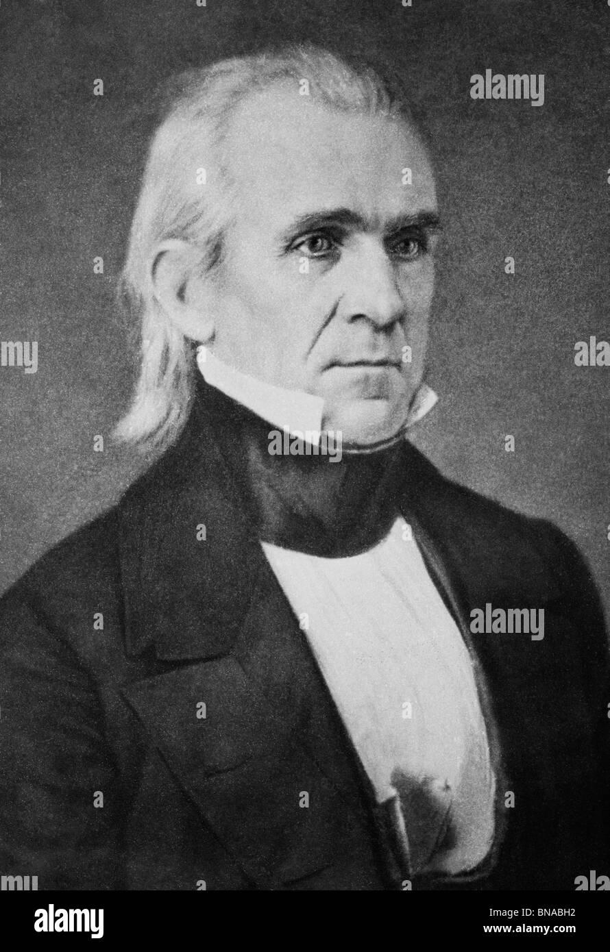 Daguerreotype portrait photo circa 1840s of James K Polk (1795 - 1849) - the 11th US President (1845 - 1849). - Stock Image