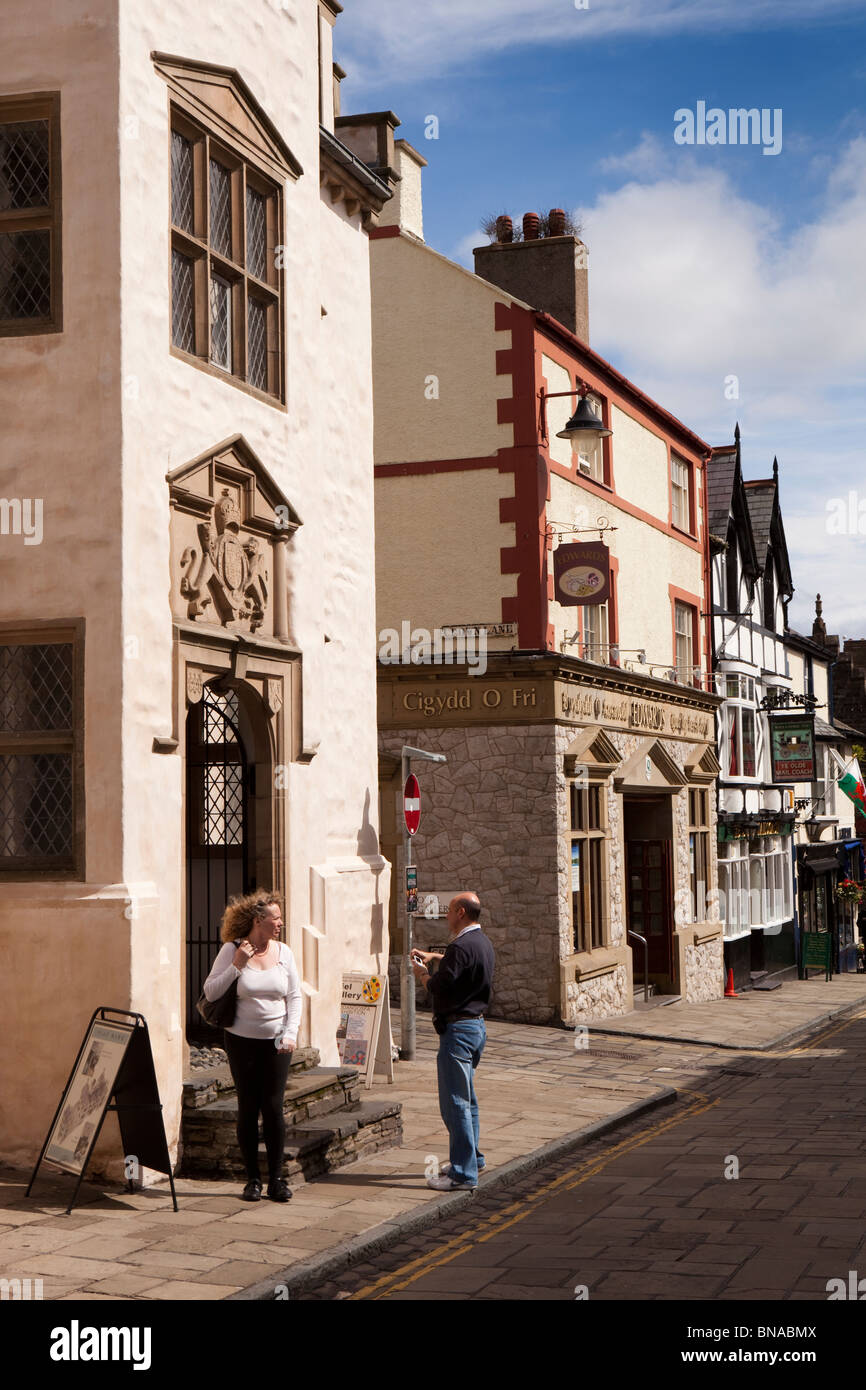 Wales, Gwynedd, Conway, High Street, Plas Mawr - Stock Image