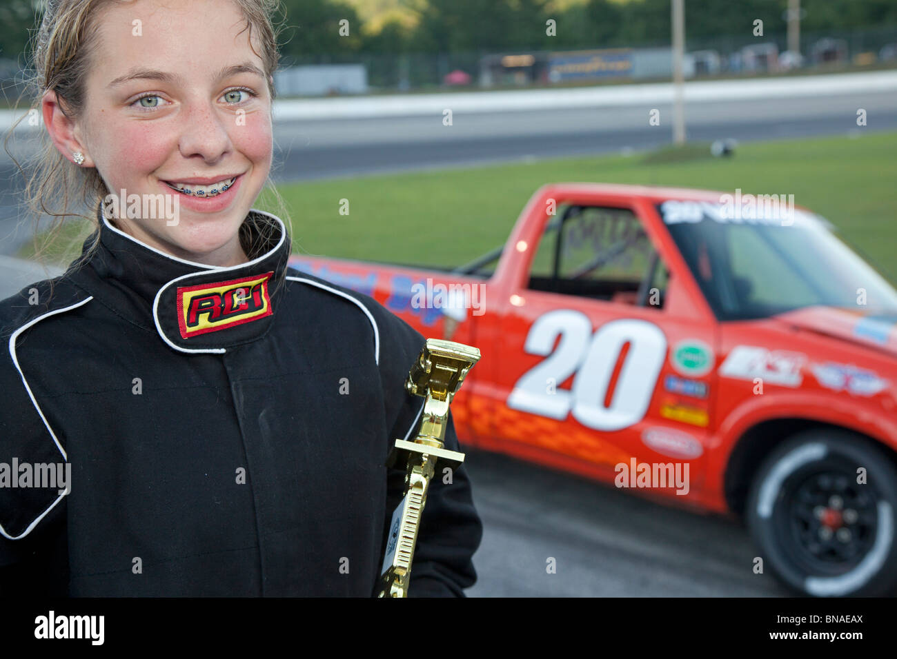 Thirteen-year-old Stock Car Race Winner Stock Photo: 30348946 - Alamy