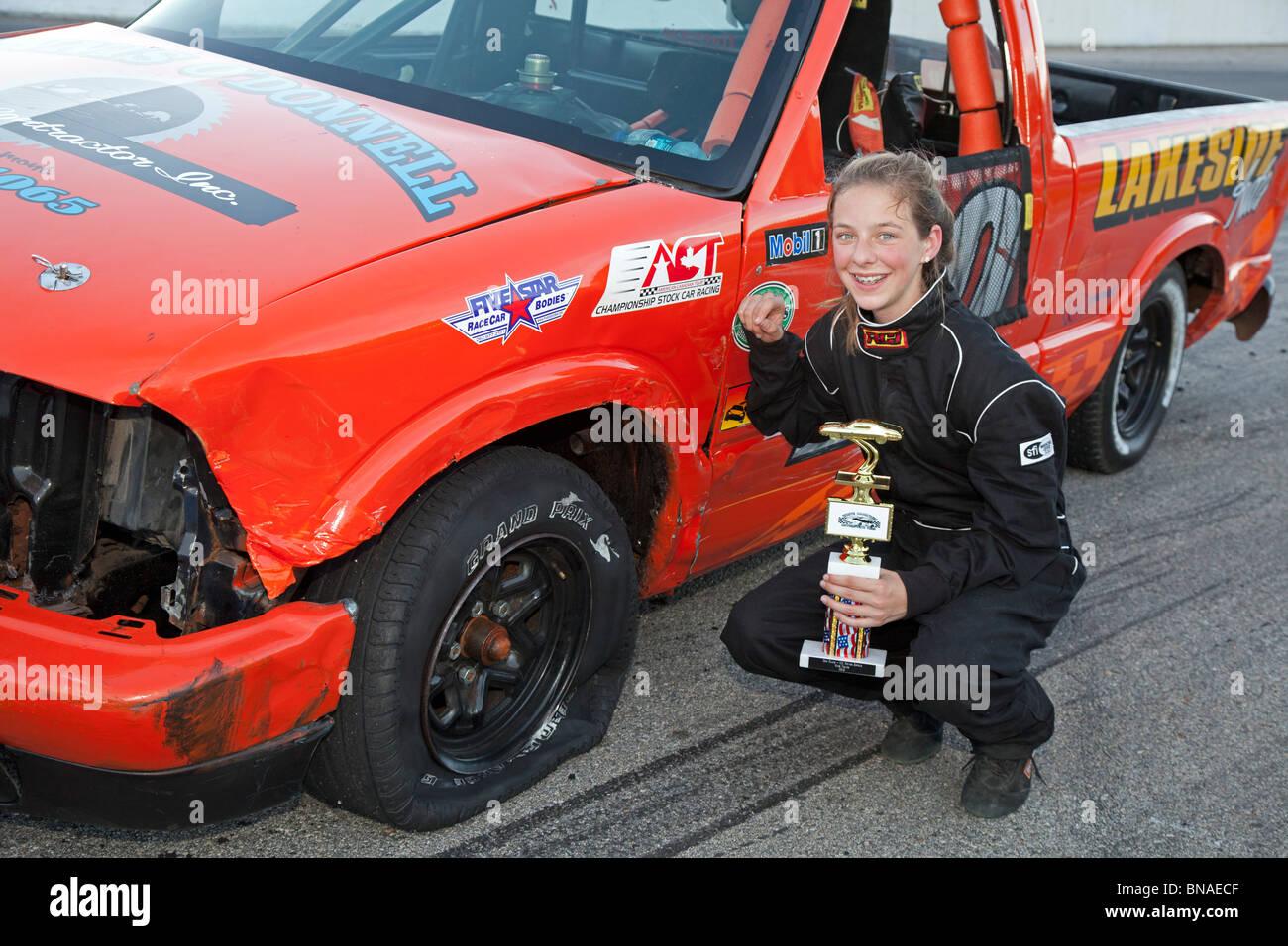 Thirteen-year-old Stock Car Race Winner Stock Photo: 30348991 - Alamy