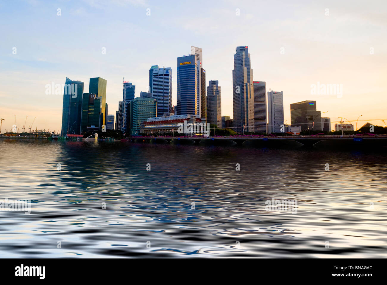 Skyline of Singapore - Stock Image