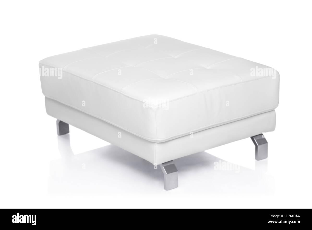 White footstool - Stock Image