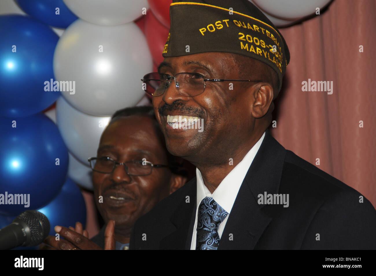 smiling veteran - Stock Image