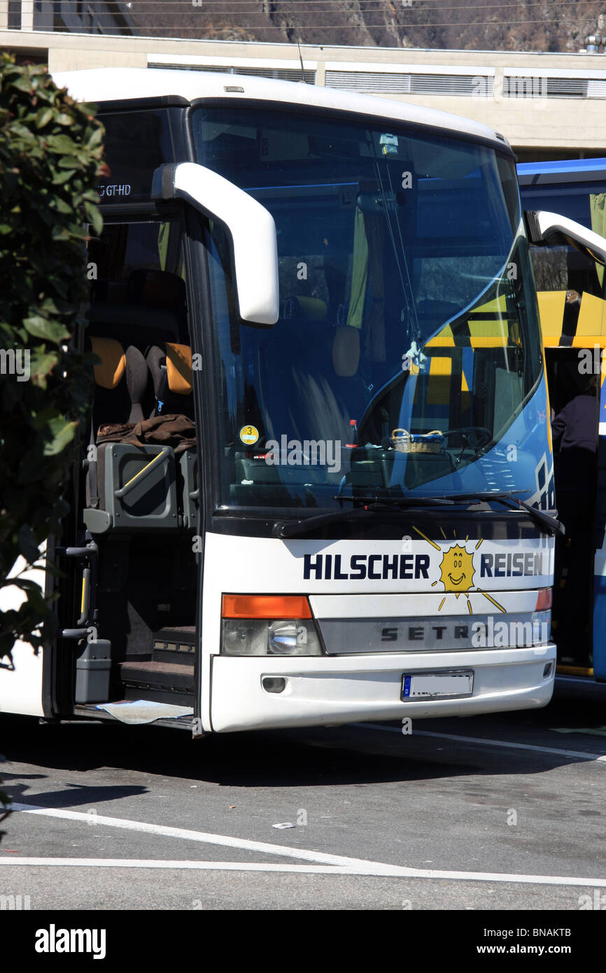 Swiss tourist bus - Stock Image