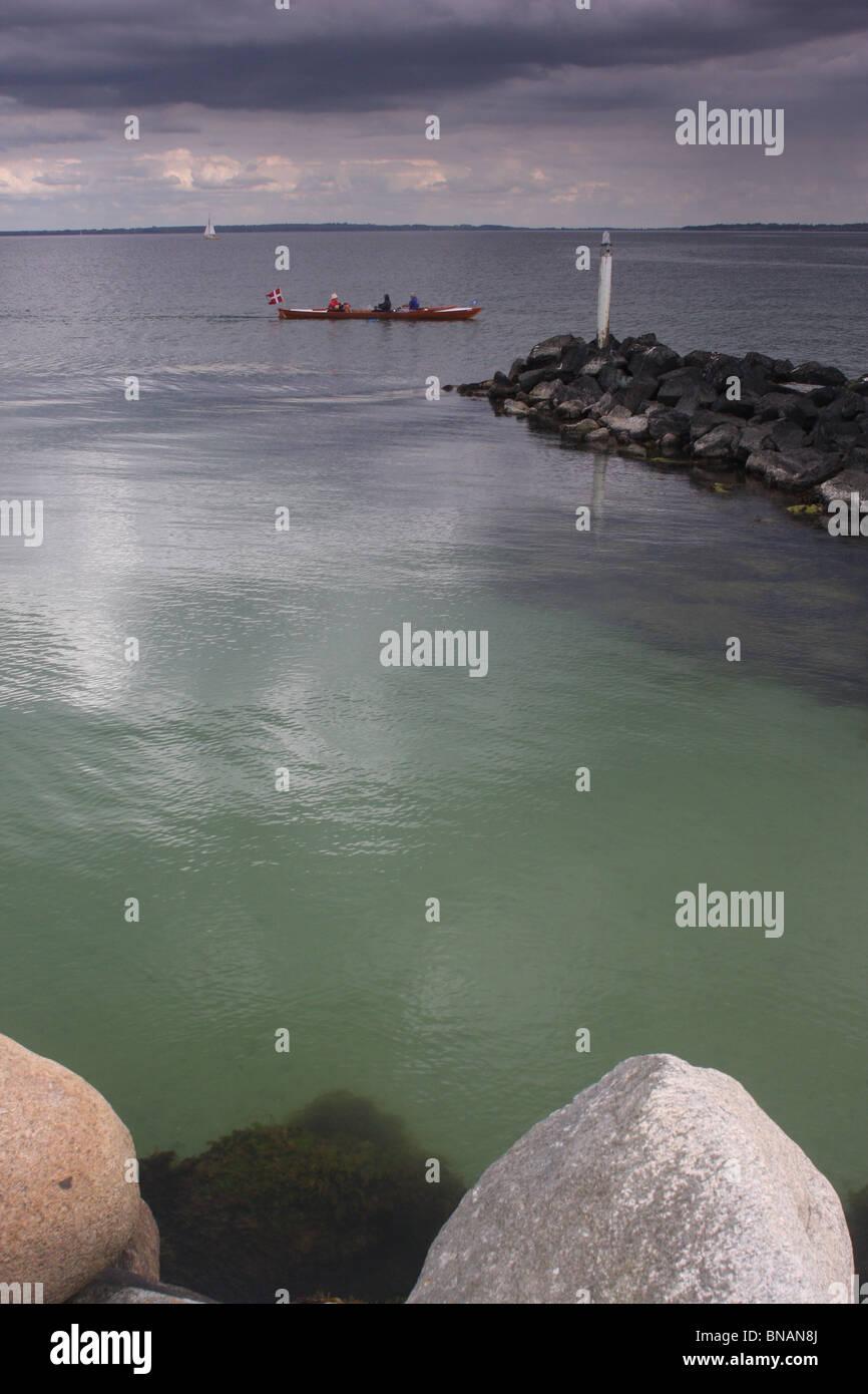 Danish coast north-seeland in Vedbaek - Stock Image