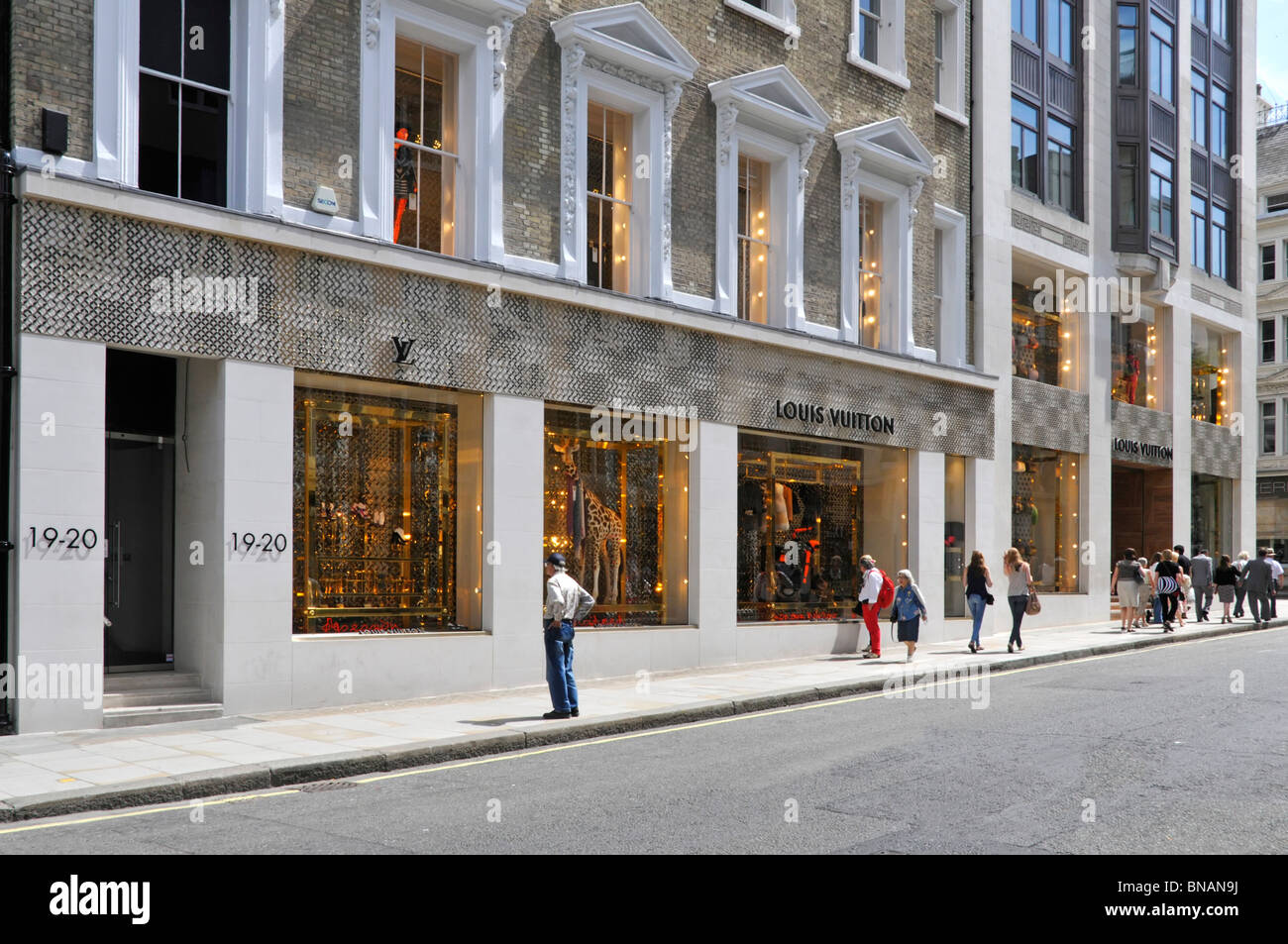 Louis Vuitton store front in London - Stock Image