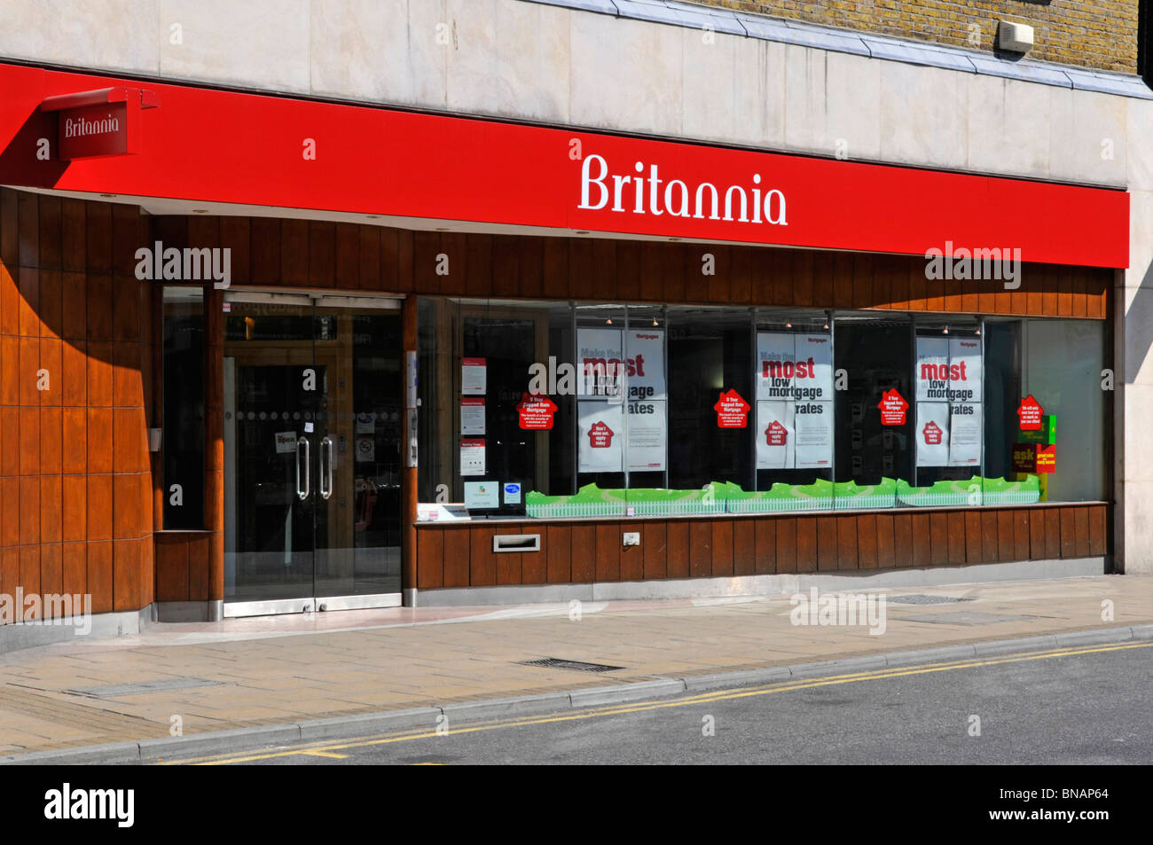 Britannia branch premises now merged with the Co-operative bank - Stock Image