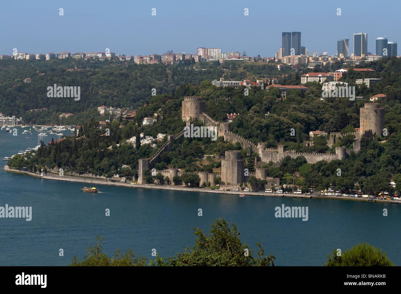 Rumelihisar Castle,Bosphorus,istanbul,Turkey Stock Photo