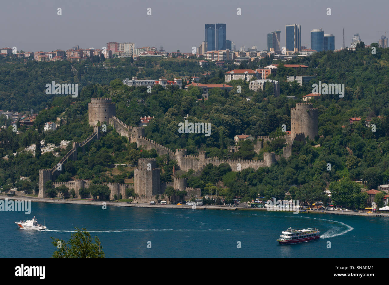Rumelihisar Castle,Bosphorus,istanbul,Turkey Stock Photo