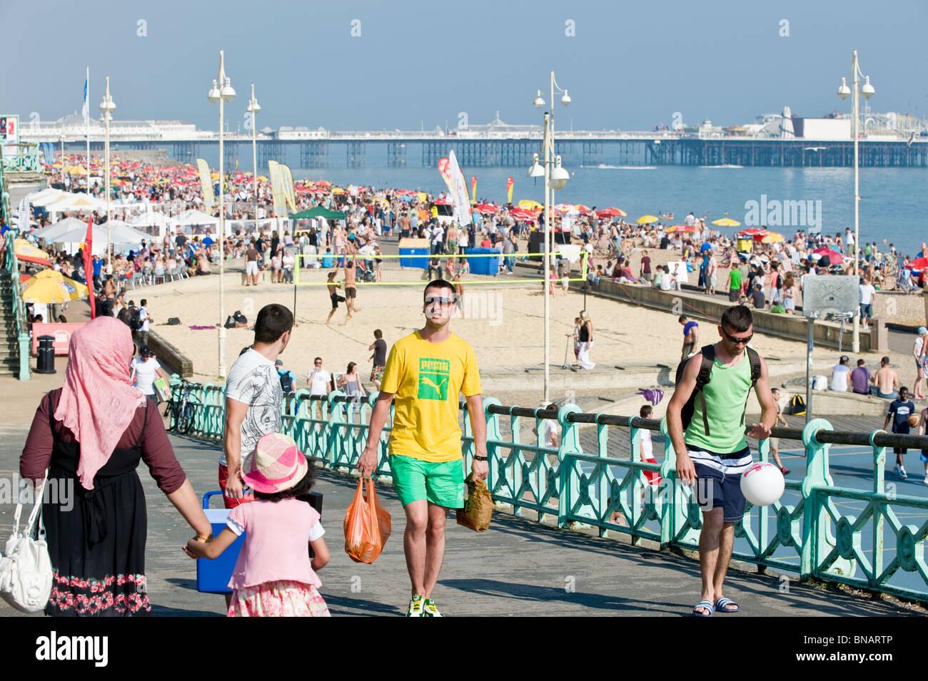 Seafront, Brighton, East Sussex, United Kingdom - Stock Image