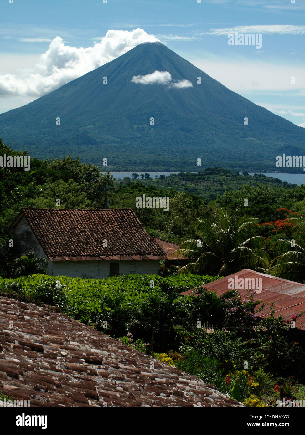 Volcan Concepcion on the Isla Ometepe in Nicaragua Stock Photo