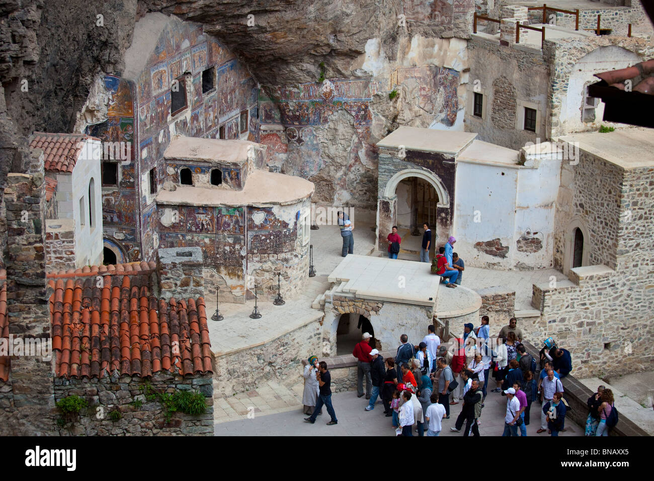 Greek Orthodox Sumela Monastery near Trabzon Turkey - Stock Image