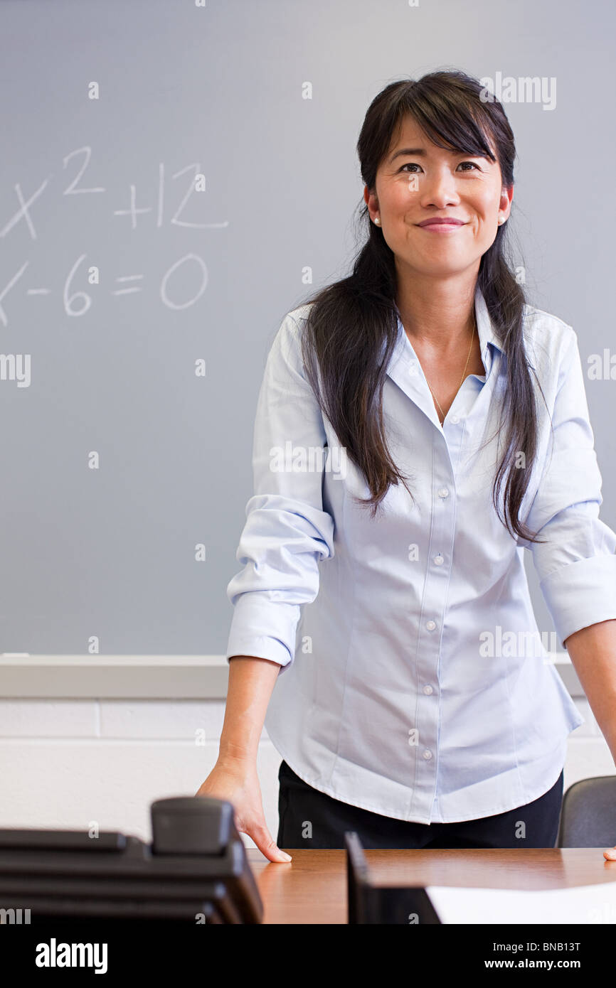 Portrait of high school teacher - Stock Image