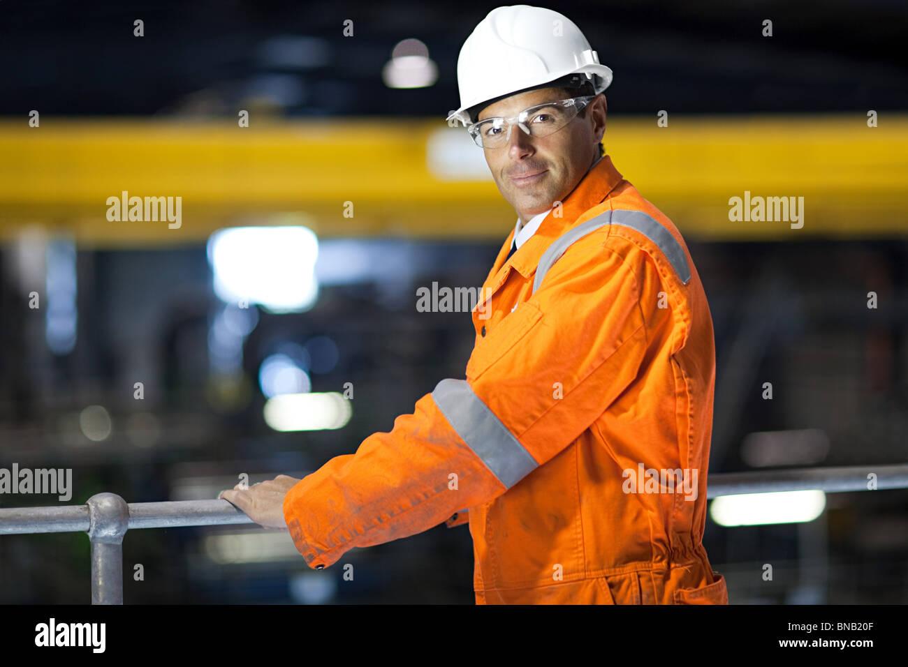 Engineer in factory - Stock Image