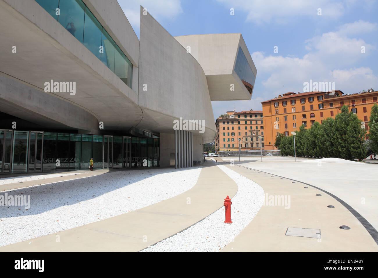 MAXXI museum Rome Museum of Twenty first century art - Stock Image