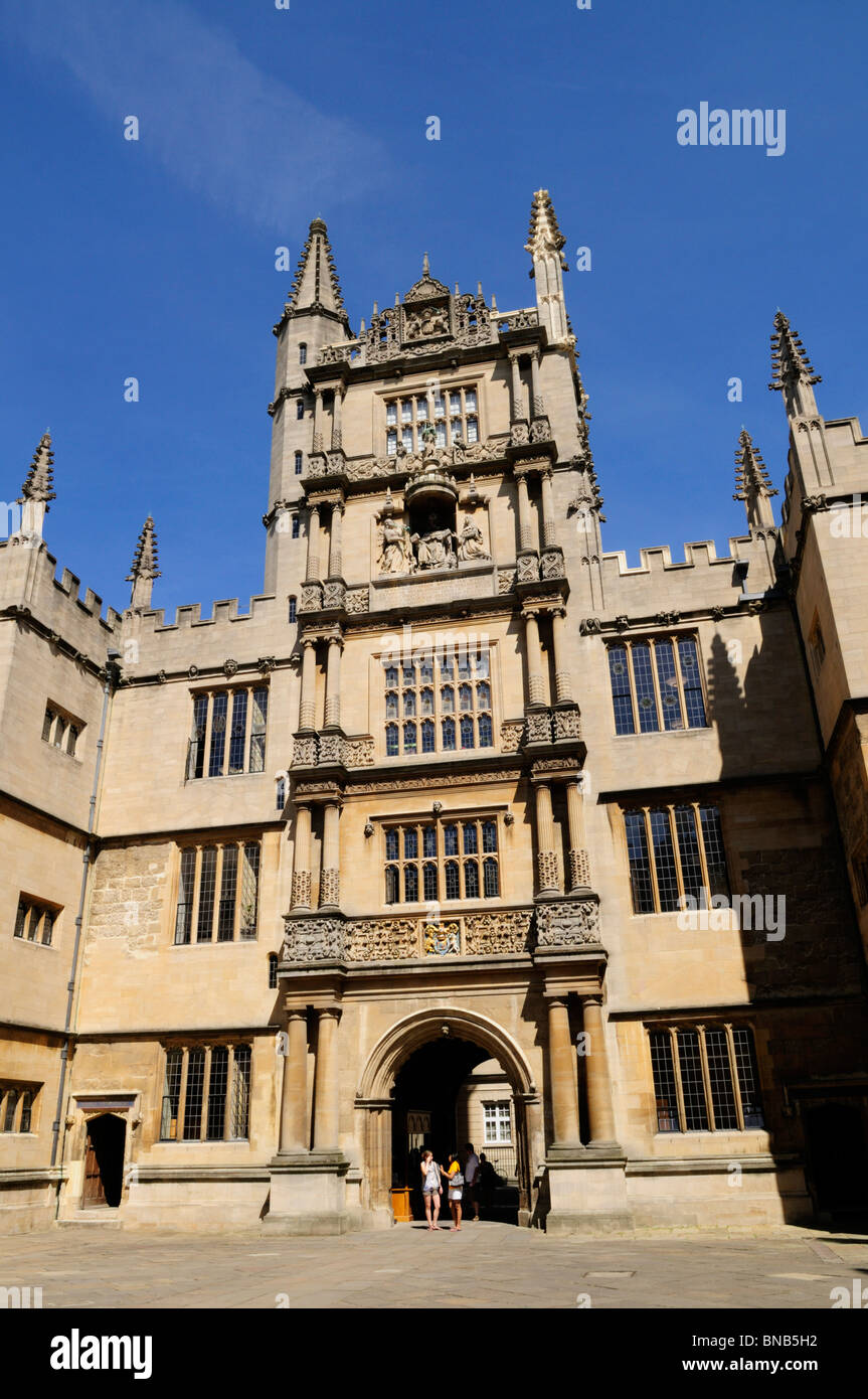 The Tower of the Five Orders at the Old Bodleian Library, Oxford, England, UK - Stock Image