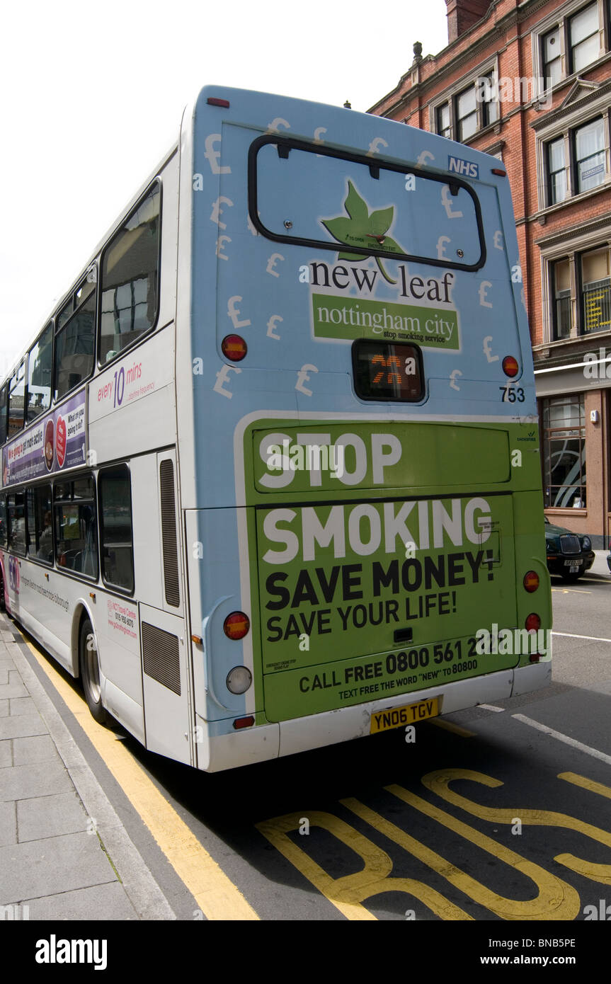 anti smoking campaign stop stopping smoker targeted at smokers government funded - Stock Image