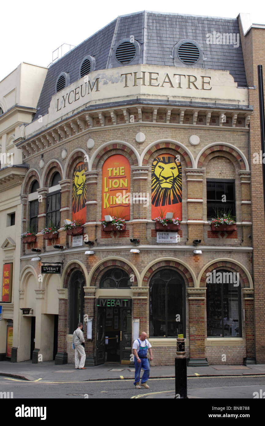 The Lion King showing at the Lyceum Theatre Covent Garden London July 2010 Stock Photo