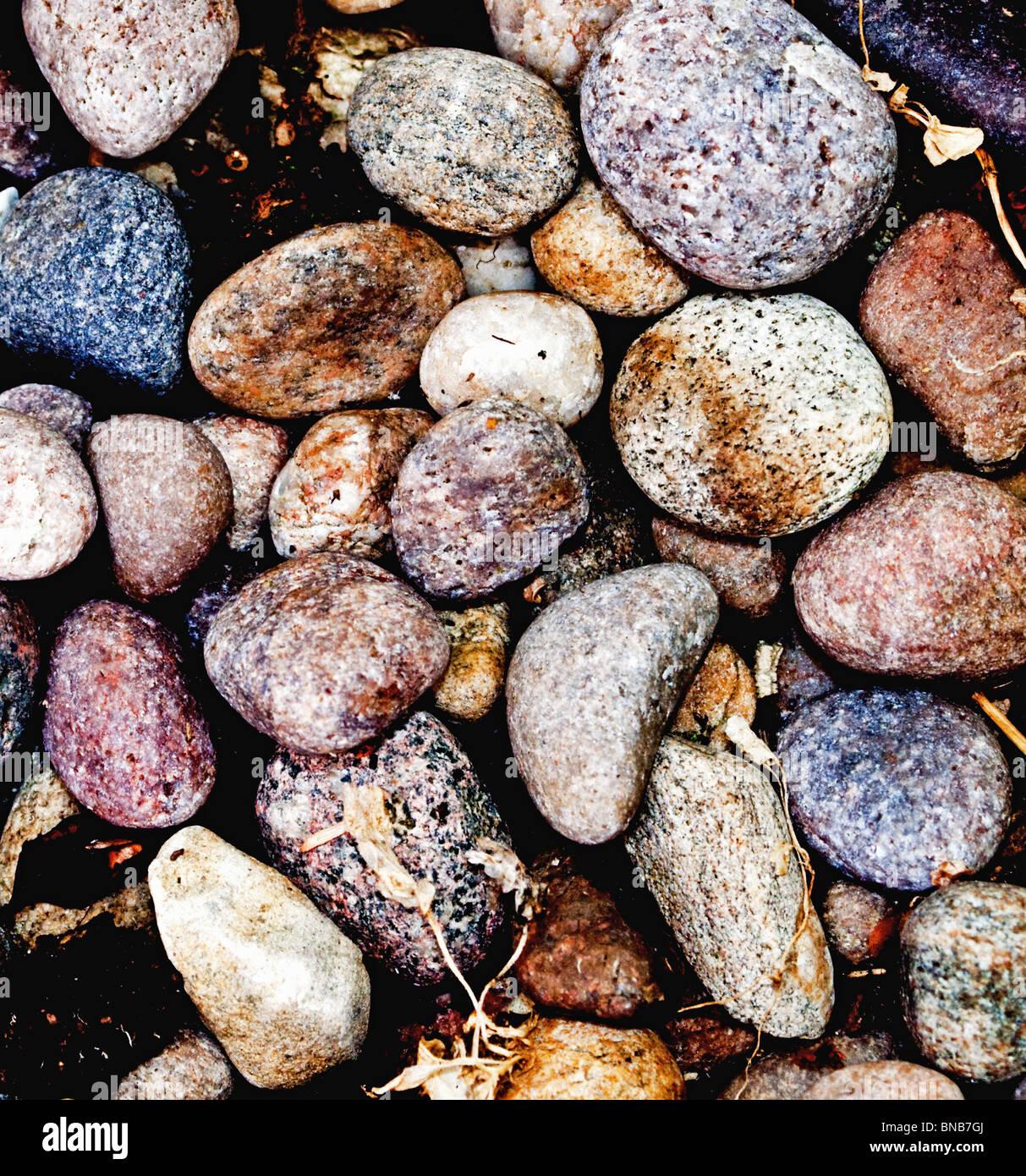 Coloured Stone Background - Stock Image