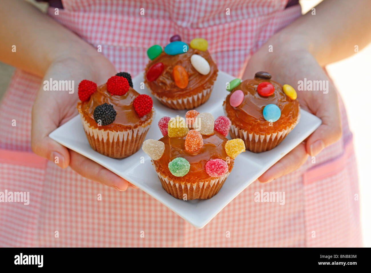 Easy homemade cupcakes. Recipe available. - Stock Image